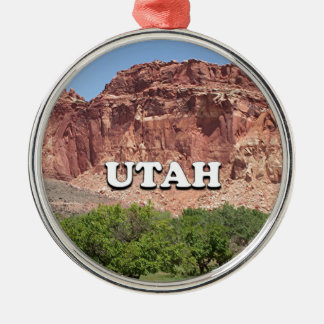 Utah: Fruita, Capitol Reef National Park, USA Silver-Colored Round Ornament