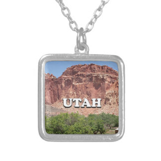 Utah: Fruita, Capitol Reef National Park, USA Silver Plated Necklace