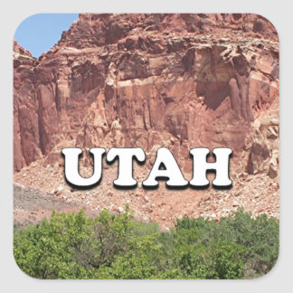 Utah: Fruita, Capitol Reef National Park, USA Square Sticker