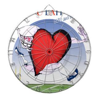 utah head heart, tony fernandes dartboard
