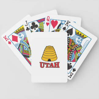 utah hive bicycle playing cards