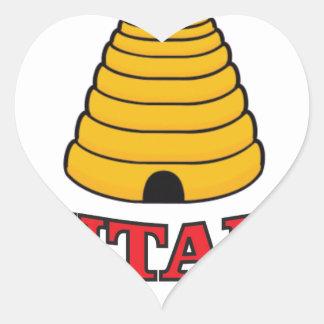 utah hive heart sticker