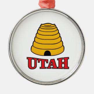 utah hive metal ornament
