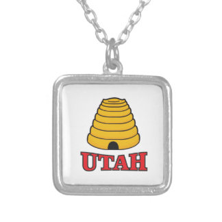 utah hive silver plated necklace