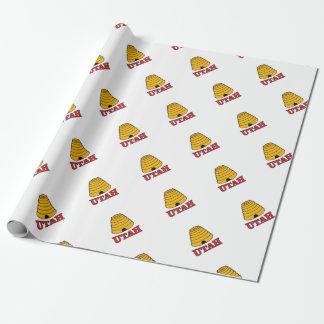 utah hive wrapping paper