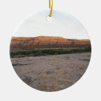 Utah Landscape Ceramic Ornament
