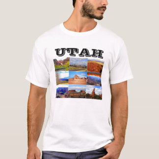 Utah Landscape Collage Icons T-Shirt