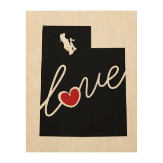 Utah Love!  Gifts for UT Lovers Wood Canvas