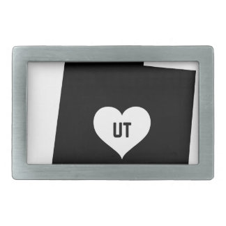 Utah Love Rectangular Belt Buckle