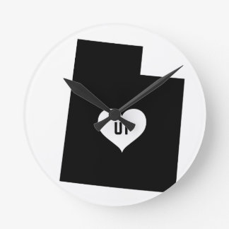 Utah Love Round Clock