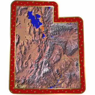 Utah Map Christmas Ornament Cut Out