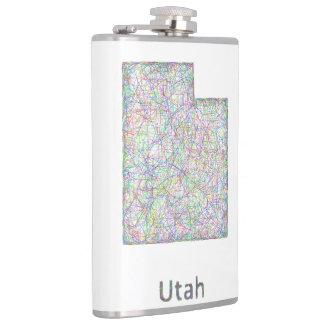 Utah map hip flask