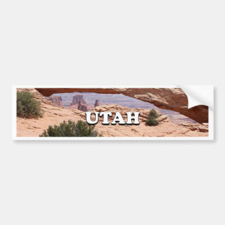 Utah: Mesa Arch, Canyonlands National Park, USA Bumper Sticker