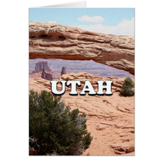 Utah: Mesa Arch, Canyonlands National Park, USA Card
