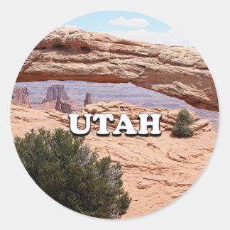 Utah: Mesa Arch, Canyonlands National Park, USA Classic Round Sticker