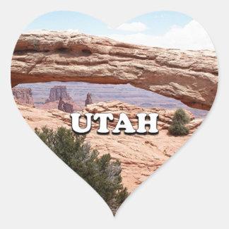 Utah: Mesa Arch, Canyonlands National Park, USA Heart Sticker