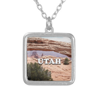 Utah: Mesa Arch, Canyonlands National Park, USA Silver Plated Necklace