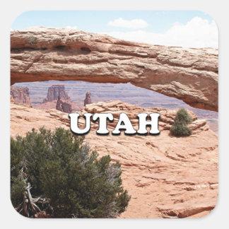 Utah: Mesa Arch, Canyonlands National Park, USA Square Sticker
