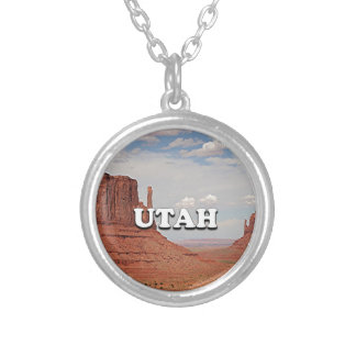 Utah: Monument Valley, USA Silver Plated Necklace