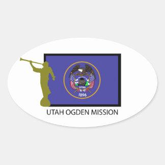 UTAH OGDEN MISSION LDS CTR OVAL STICKER