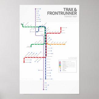 Utah Rail Transit Map Poster