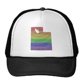 Utah Rainbow Pride Flag Mosaic Trucker Hat