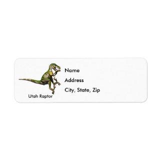 Utah Raptor Custom Return Address Label