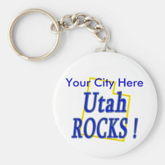 Utah Rocks ! Keychain