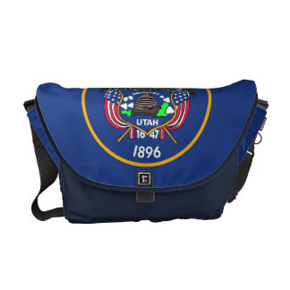 Utah State Flag Rickshaw Messenger Bag