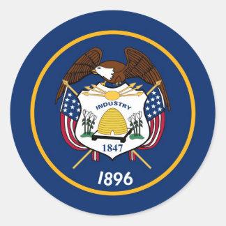 Utah State Flag Round Sticker