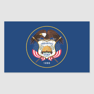 utah state flag united america republic symbol sticker