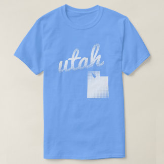 Utah state in white T-Shirt