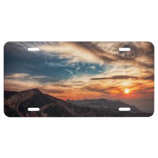 Utah Sunset License Plate
