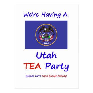 Utah TEA Party - We're Taxed Enough Already! Postcard