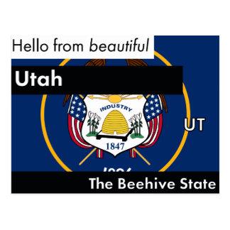 Utah The Beehive State Postcard