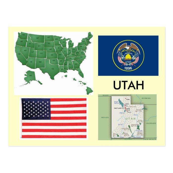 Utah, USA Postcard