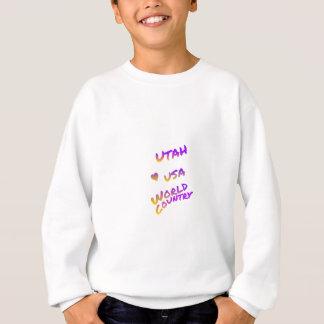 Utah USA world country, colorful text art Sweatshirt
