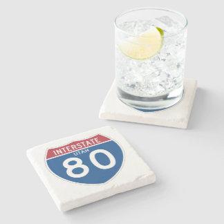 Utah UT I-80 Interstate Highway Shield - Stone Coaster