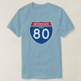 Utah UT I-80 Interstate Highway Shield - T-Shirt
