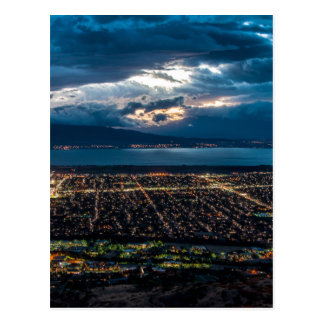Utah Valley And Provo At Sunset Postcard