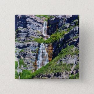 Utah Waterfall #1a- Button / Pin -by Fern Savannah