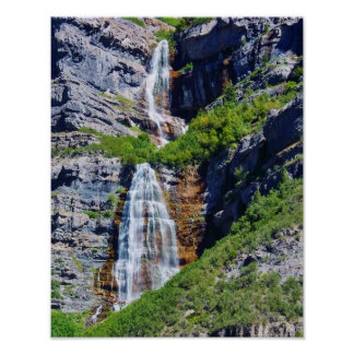 Utah Waterfall #1a- Poster (choose size)