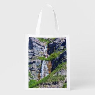 Utah Waterfall #1a- Reusable Bag - Single-sided Reusable Grocery Bag
