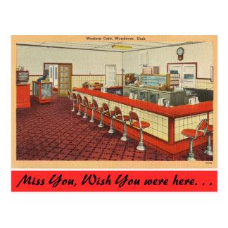 Utah, Western Cafe, Wendover Postcards