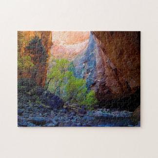 Utah Zion Mountains. Jigsaw Puzzle