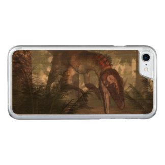Utahraptor dinosaur hunting a gecko carved iPhone 8/7 case