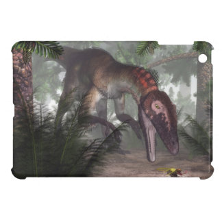 Utahraptor dinosaur hunting a gecko iPad mini cases