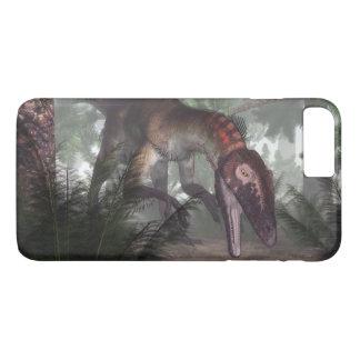 Utahraptor dinosaur hunting a gecko iPhone 8 plus/7 plus case