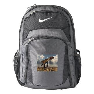 Utahraptor dinosaur in the desert - 3D render Backpack