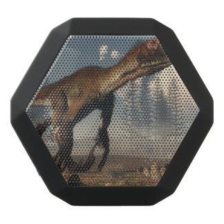 Utahraptor dinosaur in the desert - 3D render Black Bluetooth Speaker